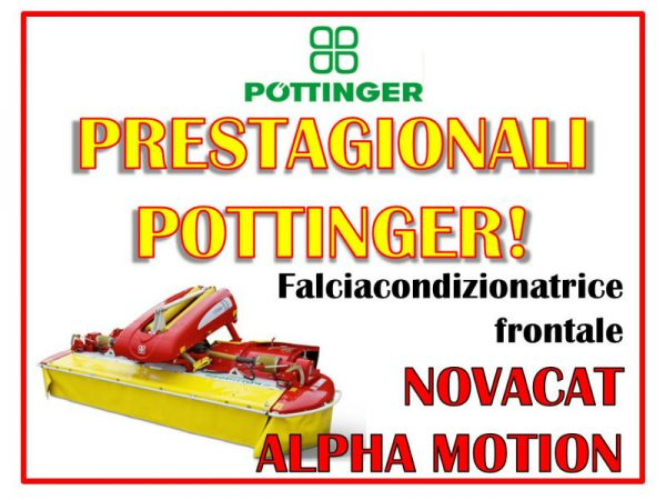 Falciacondizionatrice frontale Pottinger Alpha Motion